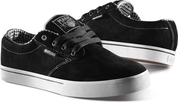 Etnies Skate Shoes Makia Jameson 2 Grey / Black - Sneaker Skate Shoes [Grey / Black] ZHIE9snC